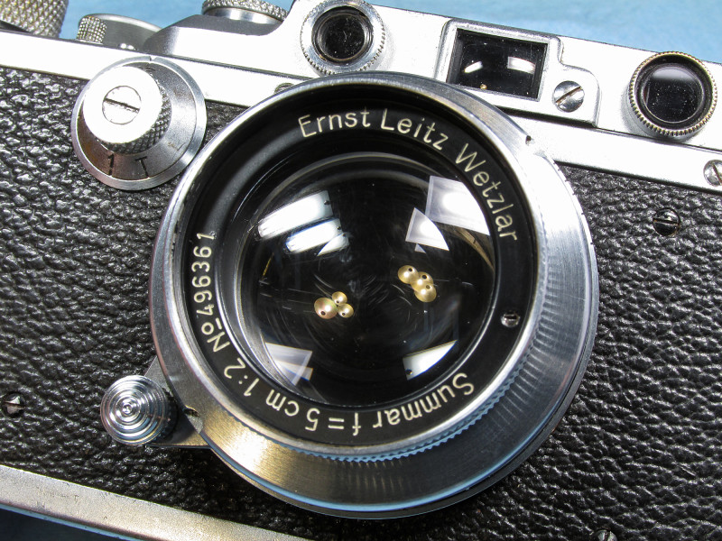 Summar mounted on my Leica IIIf