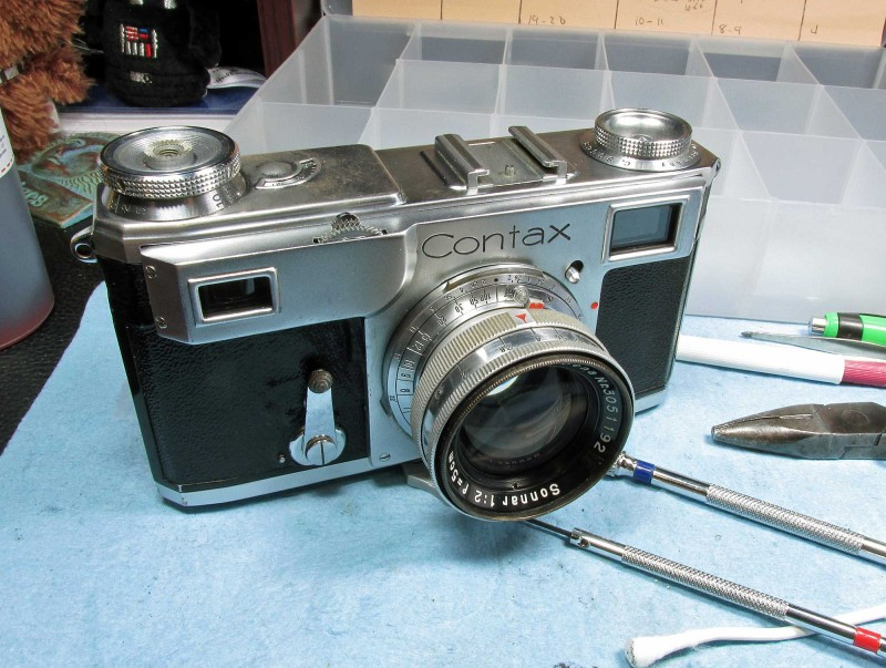 my 1937 Contax II came to me in pretty good condition. it just needed the shutter mechanism cleaned and lubed. and the optics in the RF/VF cleaned.
